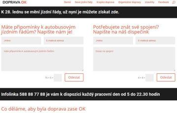 Doprava v Olomouckém kraji má nový web
